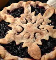 Fancy Blueberry Holiday Pie